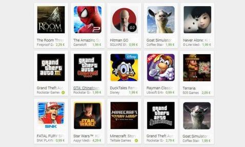 Play Store rebajas