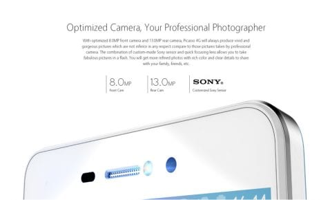 cámara Bluboo PIcasso 4G