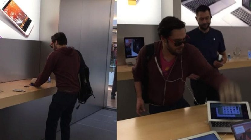 Destrozos en Apple Store