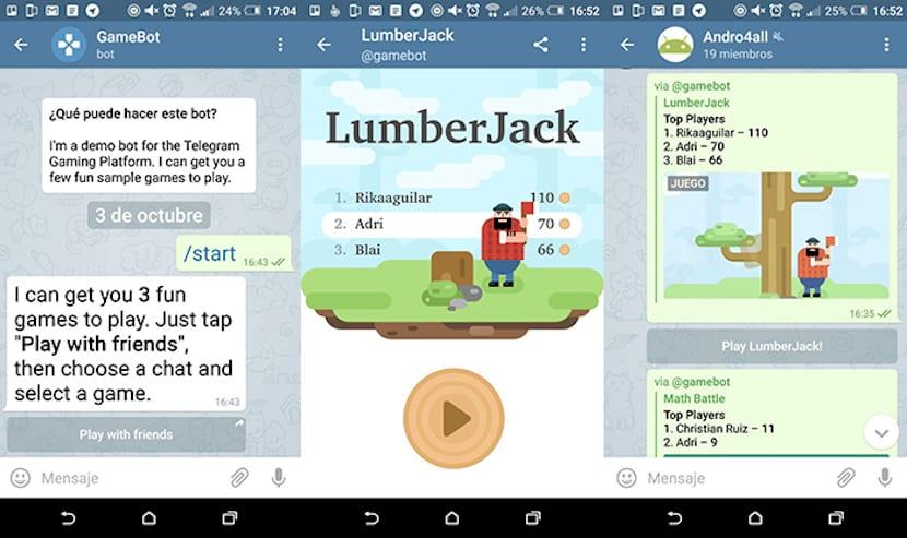 Telegram agrega soporte para juegos HTML 5