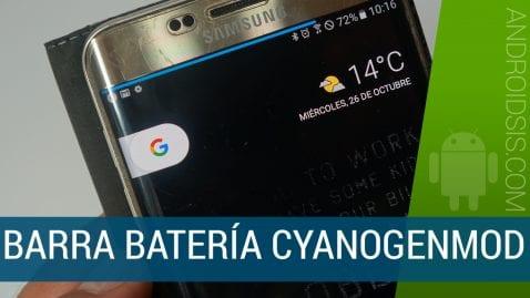 Barra batería Cyanogenmod