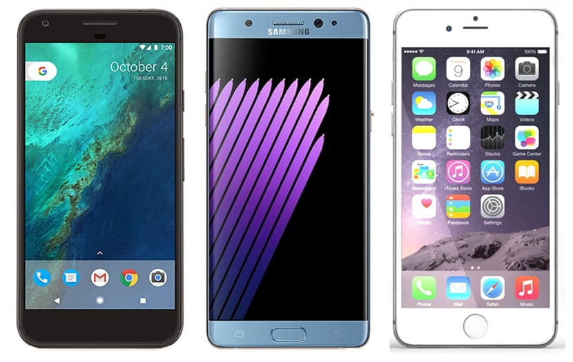 Galaxy Wallpaper Iphone 7 Plus: Comparativa: Google Pixel XL Vs IPhone 7 Plus Vs Galaxy Note 7