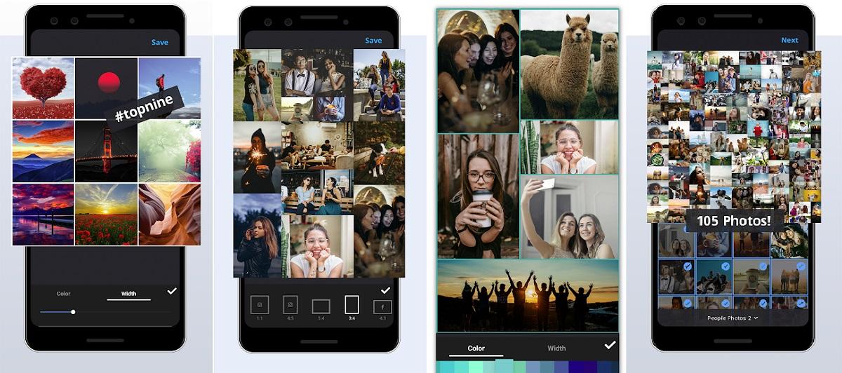 App de collages Gandr sin límite de imágenes