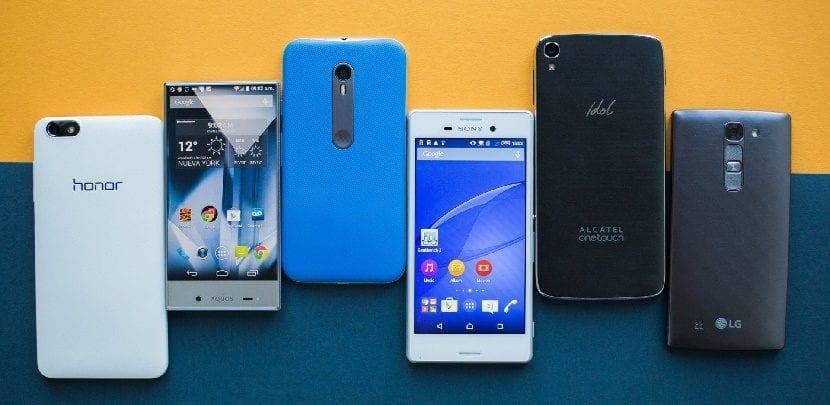 smartphones gama media