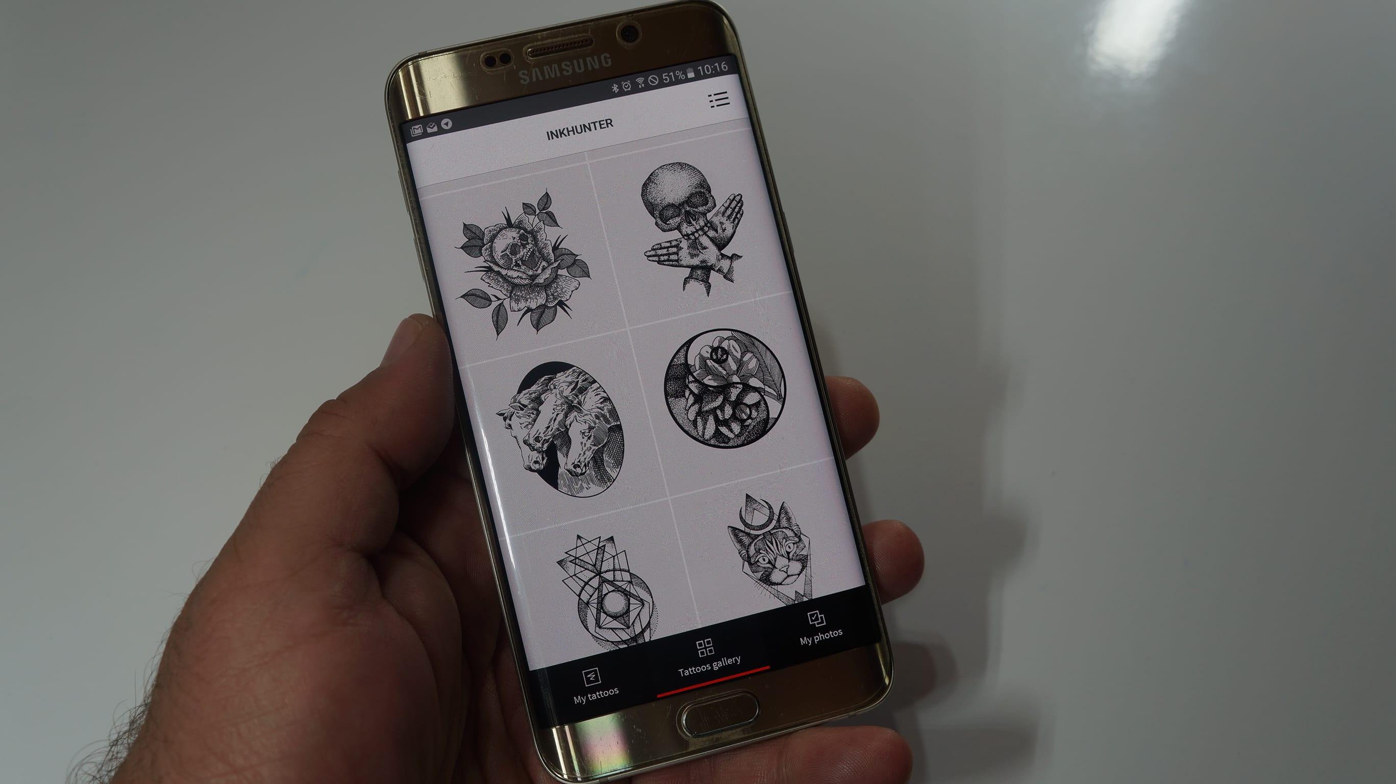 Ahora puedes comprobar como te quedaría un tatuaje directamente en tu piel gracias a tu Android