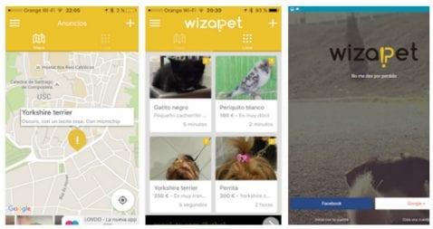 Wizapet es una app para ayudar en la búsqueda de mascotas perdidas