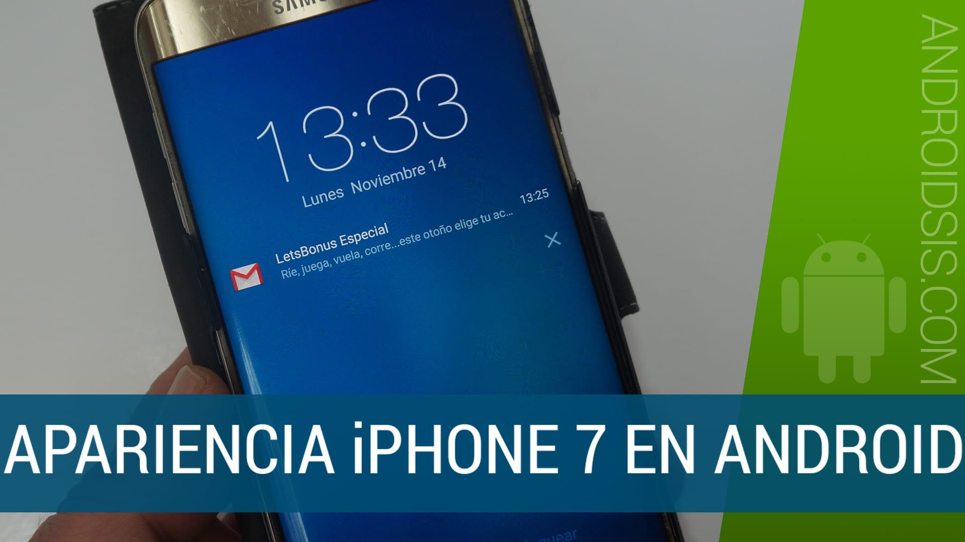 Cómo dar la apariencia del iPhone 7 a tu Android: Bloqueo Launcher y centro de control