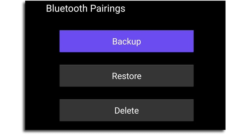 Backup Bluetooth