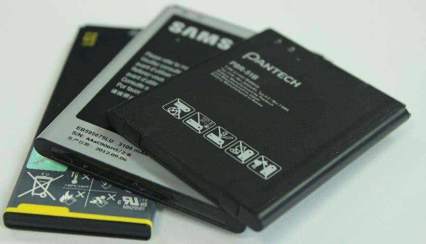 baterías smartphone