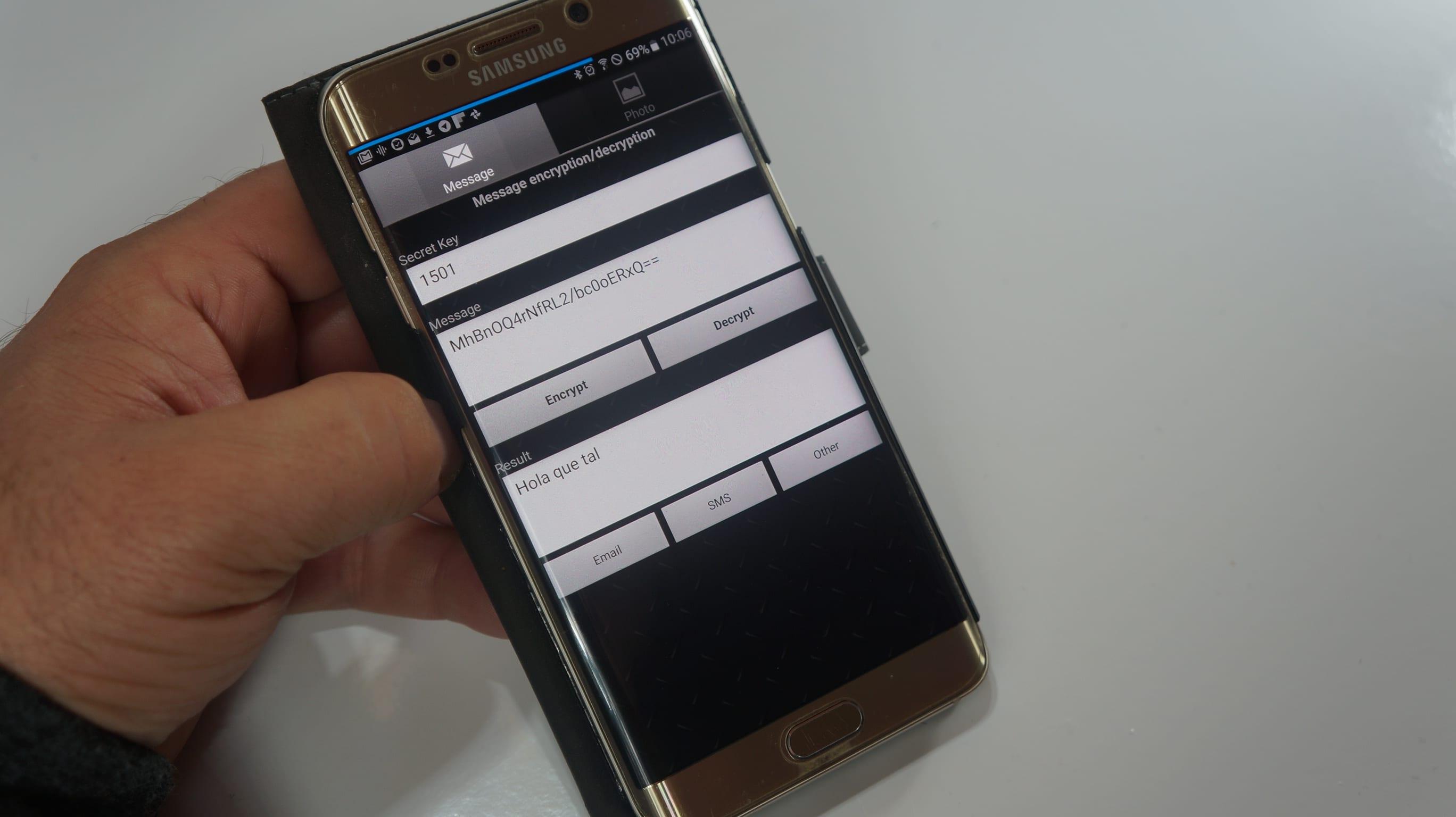Cómo encriptar fotos desde Android para enviarlas de forma segura.(Y también mensajes)