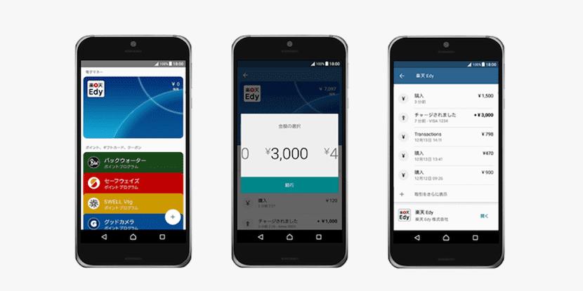 Android Pay llega a Japón de la mano de Rakuten Edy eMoney