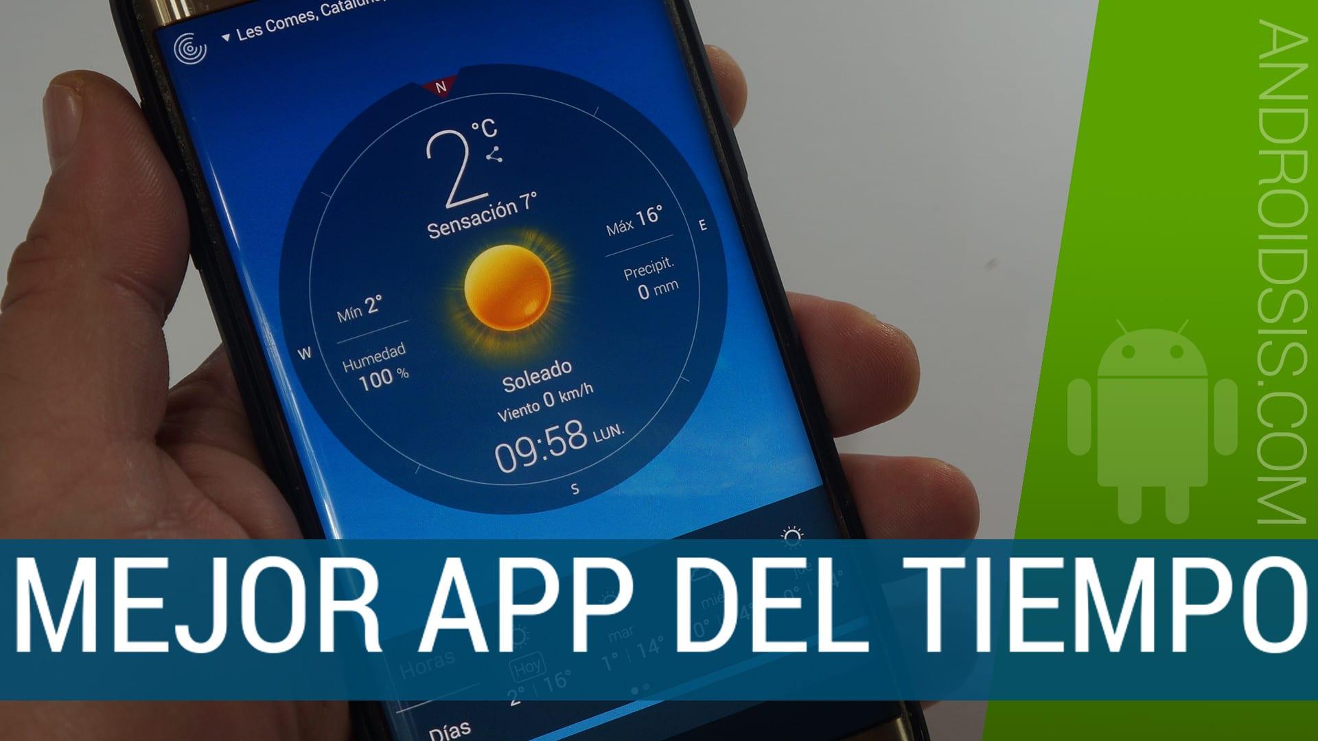 Una de las mejores aplicaciones de pronóstico del tiempo