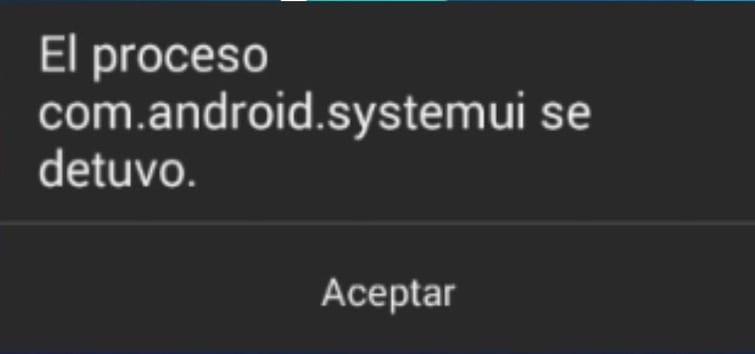 Se ha detenido com.android.systemui