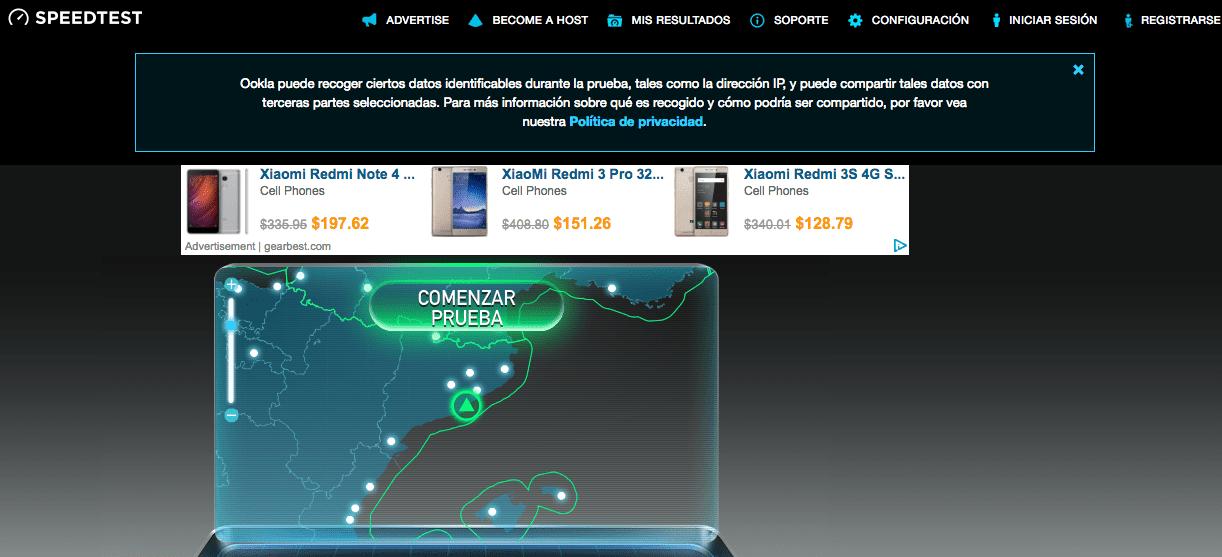 Cómo comprobar la velocidad de mi Internet móvil, ADSL y Fibra