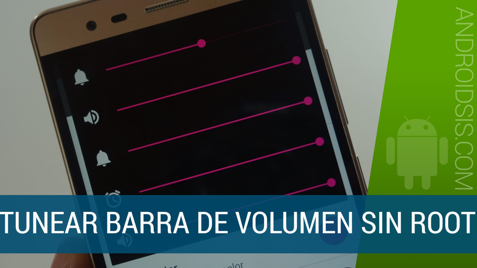 Cómo modificar la barra de volumen de Android sin Root