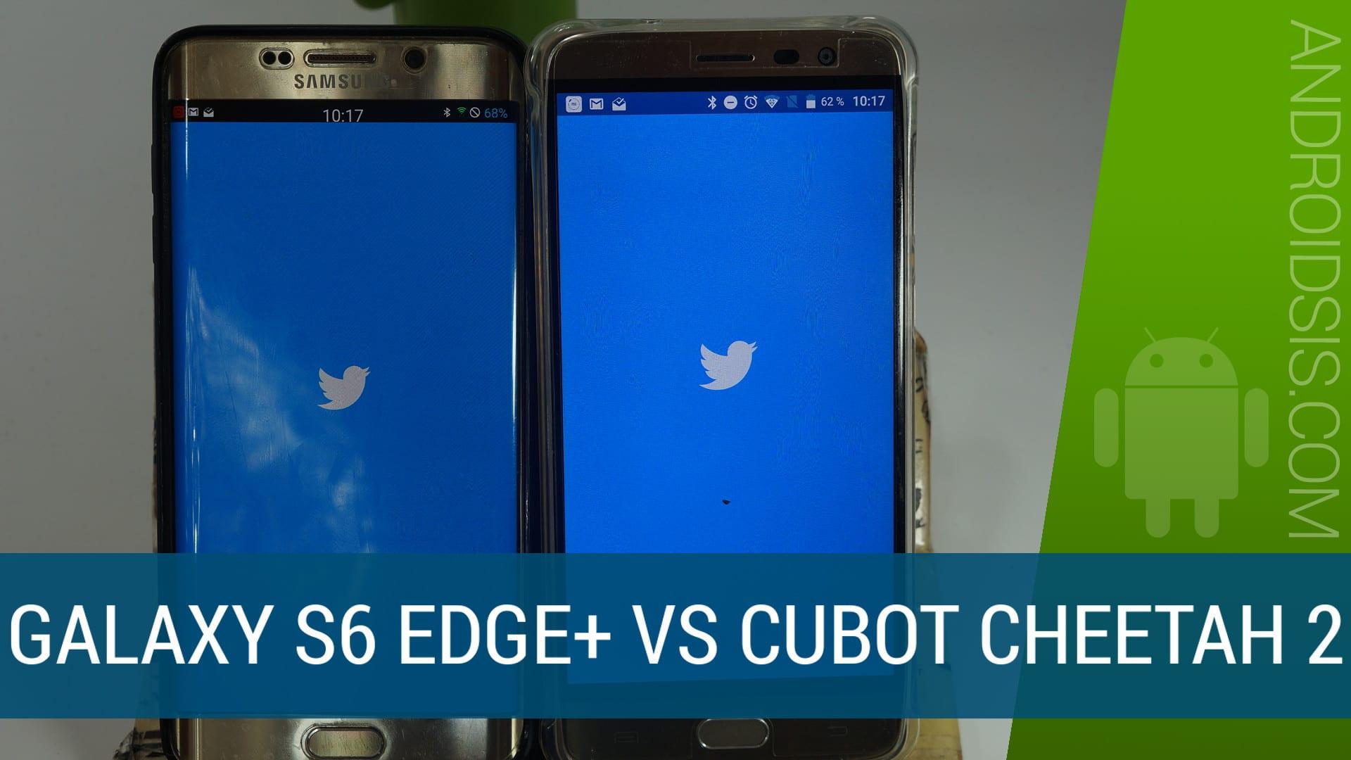 Test de velocidad Samsung Galaxy S6 Edge Plus VS Cubot Cheetah 2