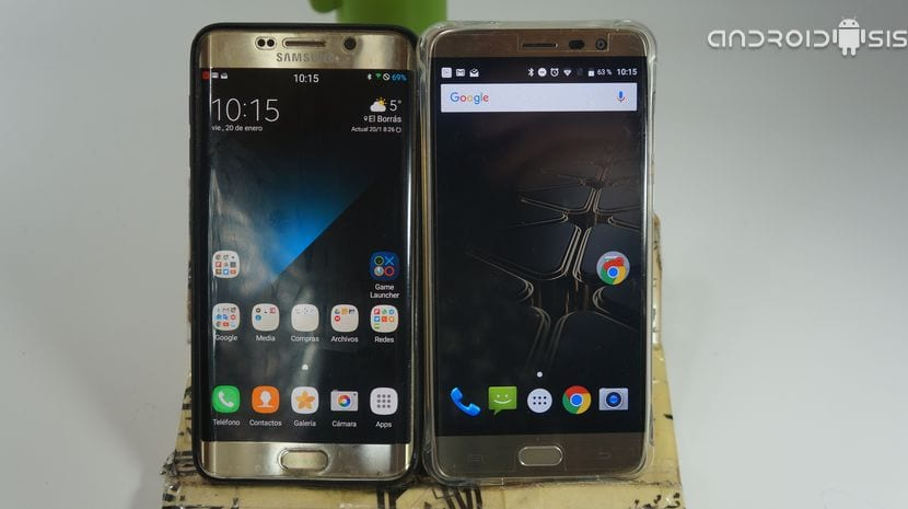 Test de velocidad Samsung Galaxy S6 Edge Plus VS Cubot Cheetah 2