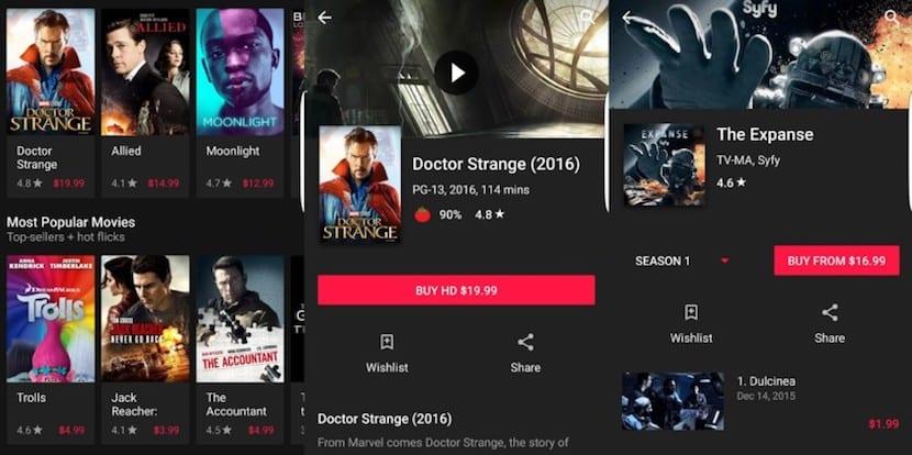 Google Play Movies se actualiza a un modo oscuro