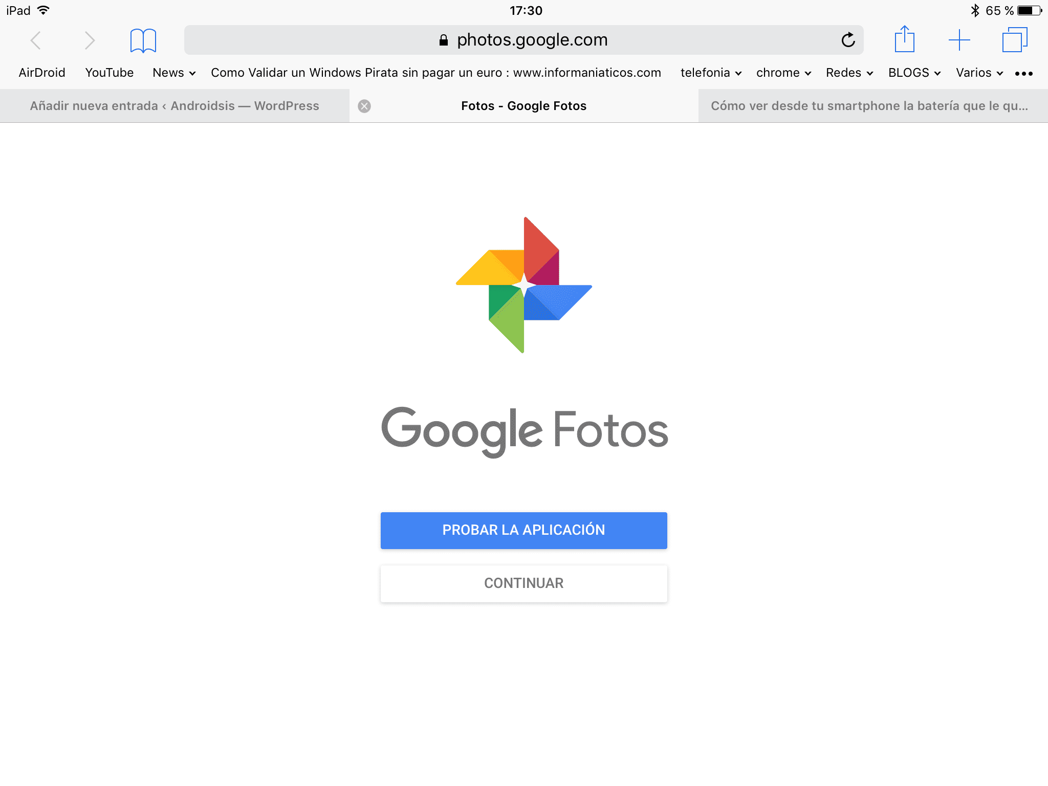 Google Fotos desde PC