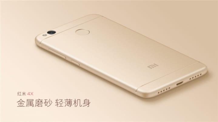 nuevo Xiaomi Recmi 4X color dorado