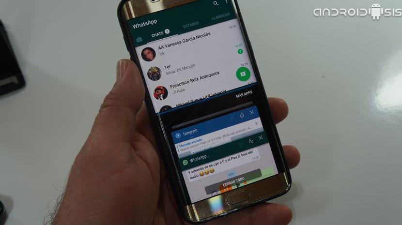 Duplicar WhatsApp en la multiventana de Android Nougat