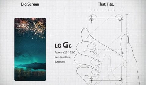 cartel presentación LG G6