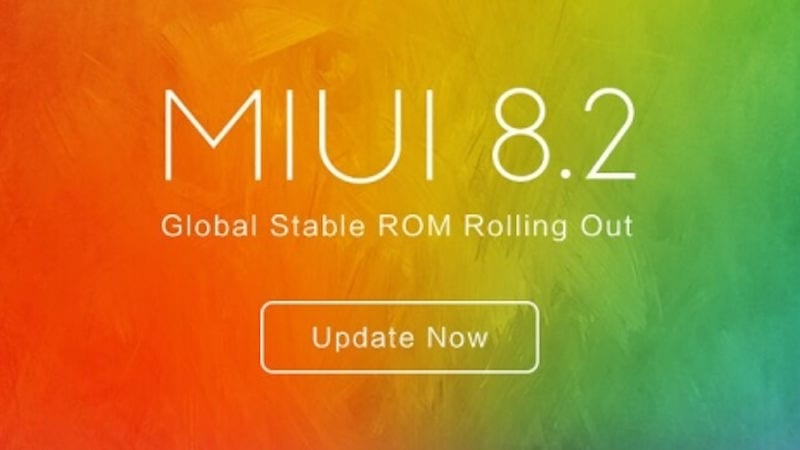 MIUI 8.2 actualización disponible