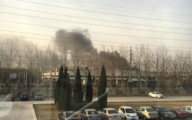 Incendio en Samsung