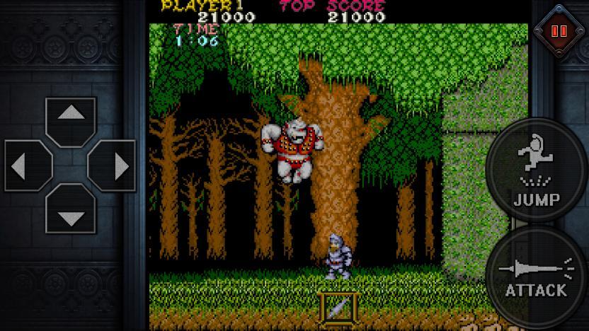 Ghosts'n Goblins es otro clásico de Capcom al que podréis jugar en vuestros Android
