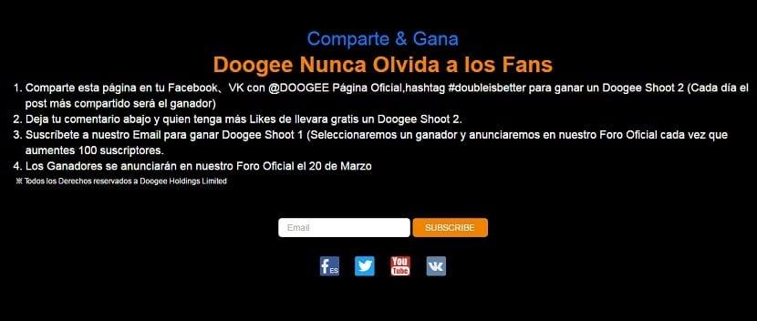 sorteo DOOGEE