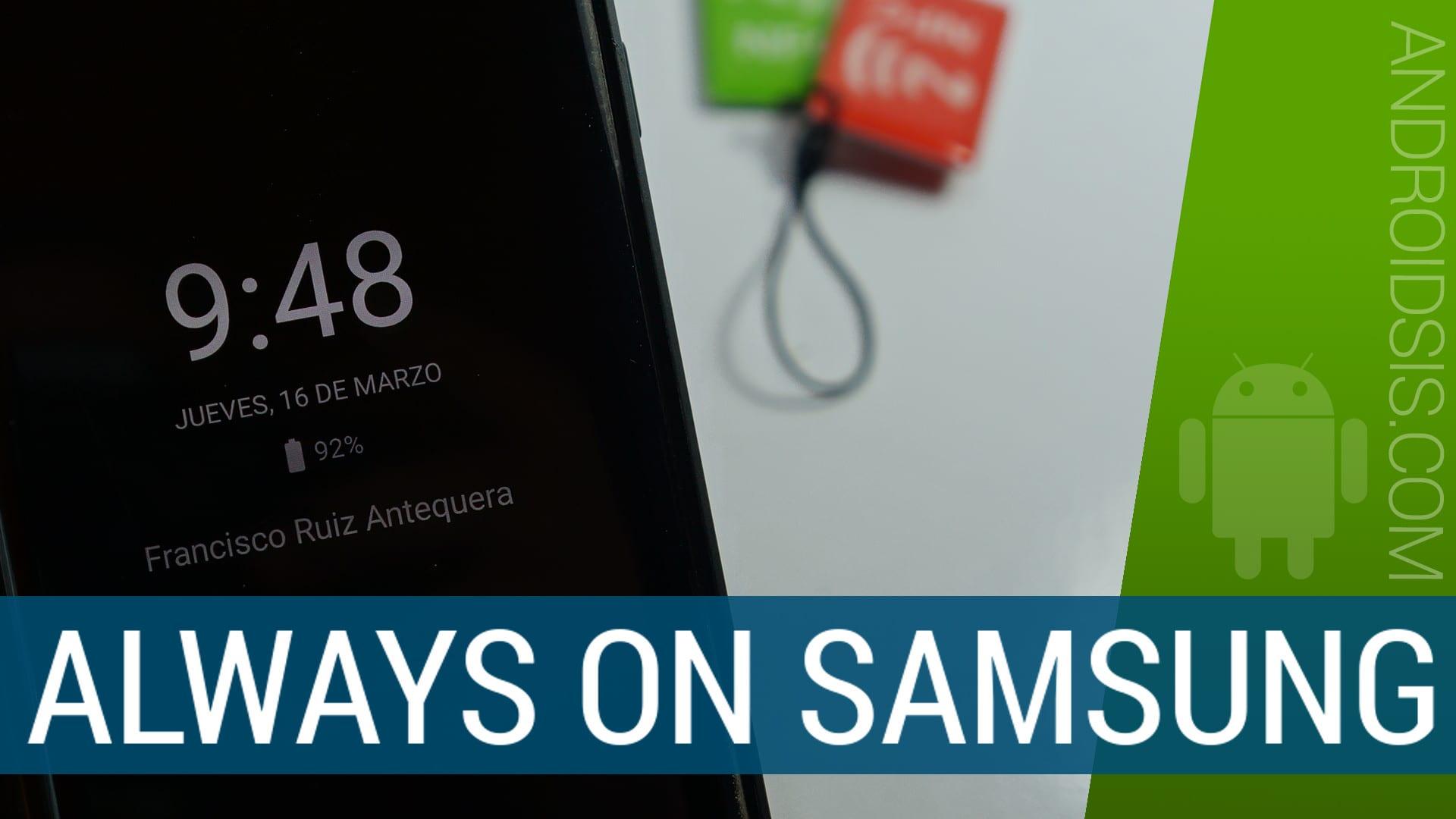La mejor app para simular el Always On del Galaxy S7