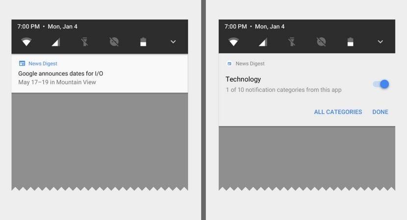 Canales de notificación en Android O