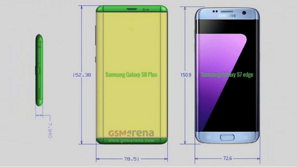 Galaxy S8 Plus Medidas
