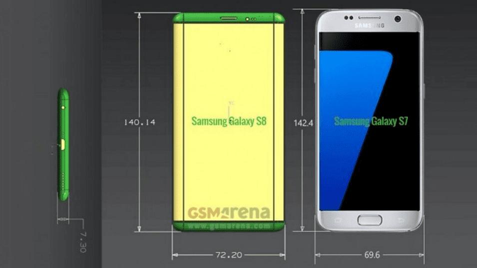 Medidas del Samsung Galaxy S8