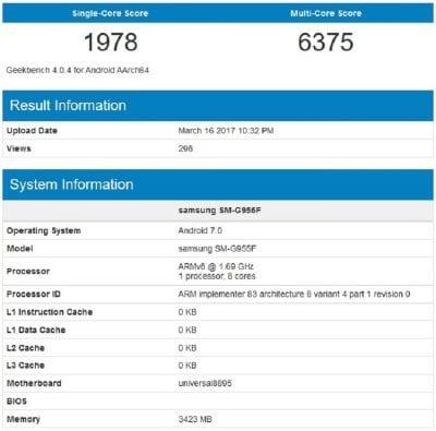 Resultados del Exynos 8895 en GeekBench