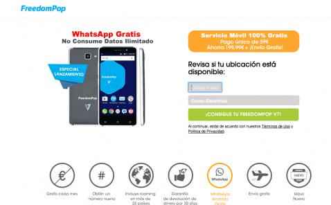 Oferta FreedomPop Smartphone por 59 euros
