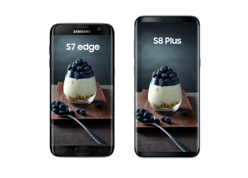 Galaxy S7 Edge y Galaxy S8 Plus
