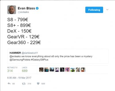 Precios Galaxy S8 y S8 Plus