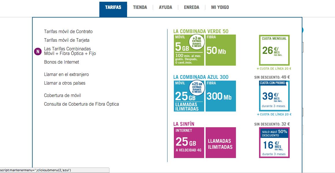 ¡¡OFERTA!! Todas las tarifas de Yoigo a mitad de precio durante tres meses
