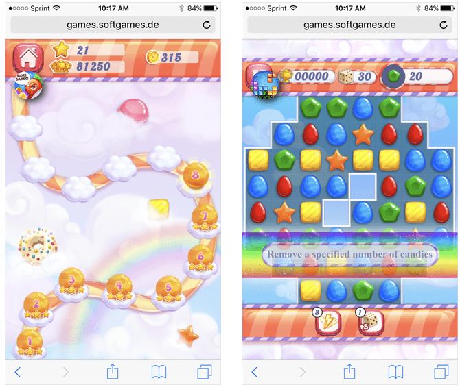 Candy Rain 2 para el navegador web