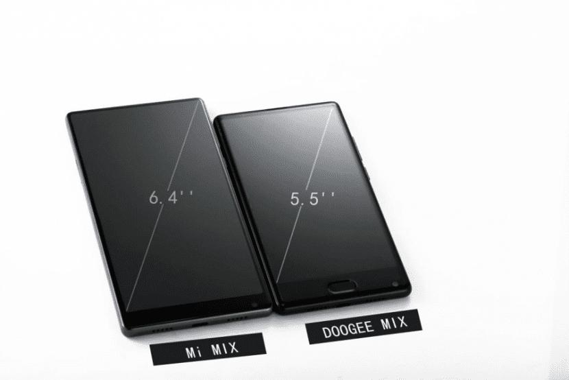 Doogee MIX frente al Xiaomi Mi Mix