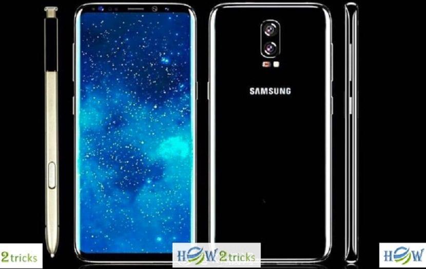 Concepto del Galaxy Note 8