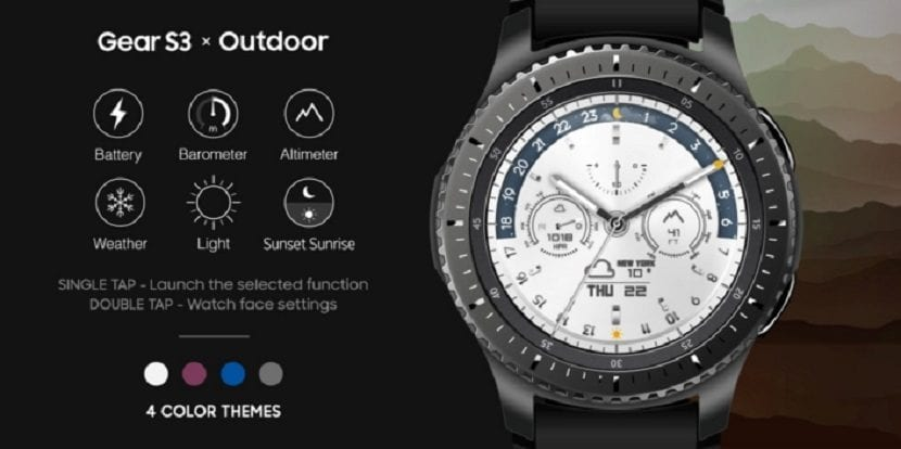 Samsung Outdoor Watchface para el Gear S3