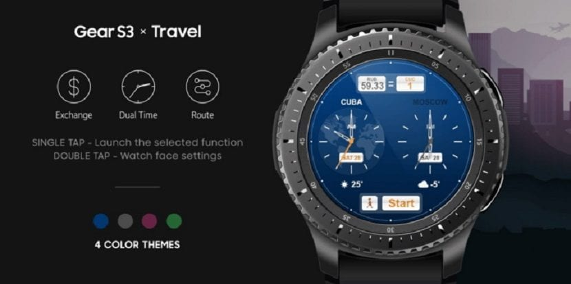 Samsung Travel Watchface para el Gear S3
