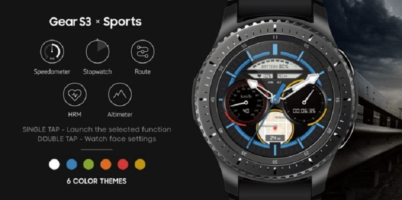 Samsung Sports Watchface para el Gear S3