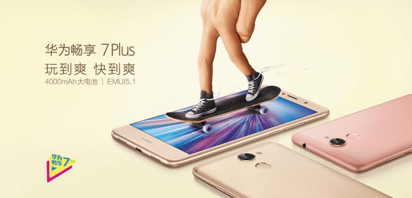 Huawei actualiza su Enjoy 7 Plus con 4GB de RAM y 64GB de almacenamiento