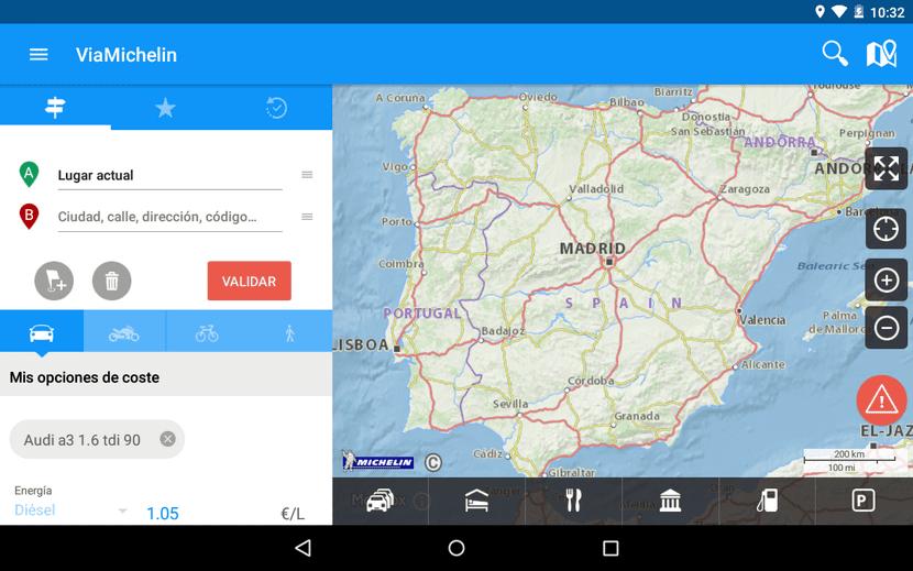 Vía Michelín Ruta GPS Tráfico