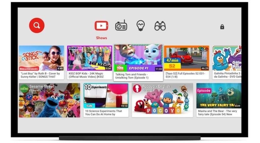 La app de YouTube Kids expande su presencia a más televisores inteligentes