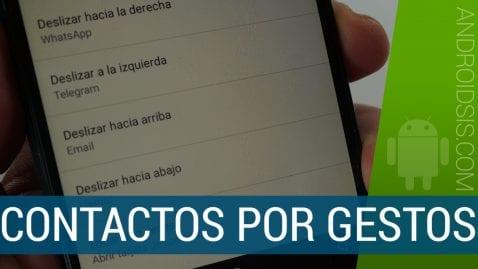 Acciones por gestos en contactos Android