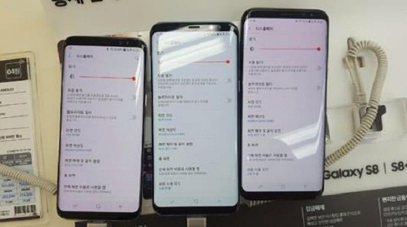 Galaxy S8 con pantalla rojiza